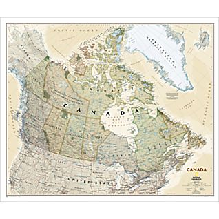 View Canada Political Map (Earth-toned) image