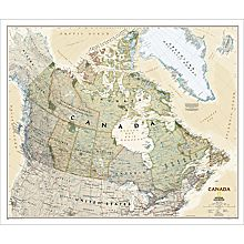 Canada Political Map (Earth-Toned), Laminated, 2010