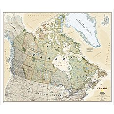 Canada Political Map (Earth-toned), Laminated