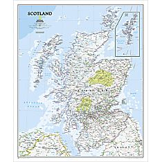Scotland Political Map, Laminated, 2010