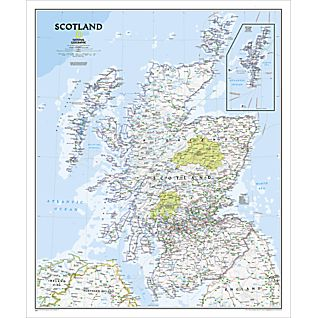 Scotland Political Map, Laminated
