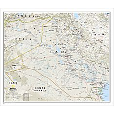 Iraq Political Map, Laminated, 2010