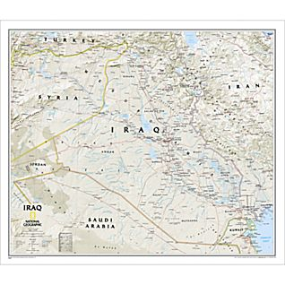 Iraq Political Map, Laminated