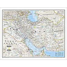 Iran Political Map, Laminated
