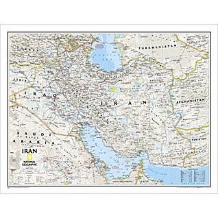View Iran Political Map, Laminated image