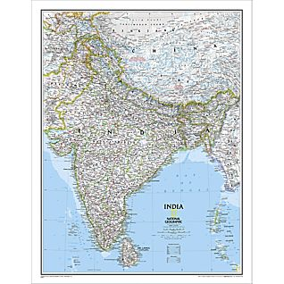 India Classic Wall Map