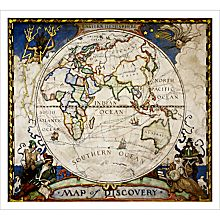 Map of Discovery - Eastern Hemisphere