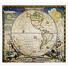 Map of Discovery - Western Hemisphere - 9781597750653