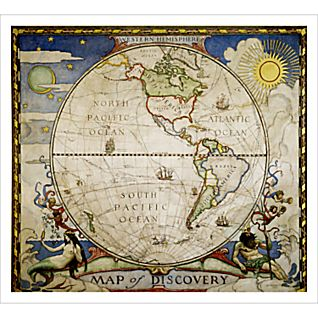 View Map of Discovery - Western Hemisphere image