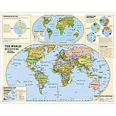 Map of the World Laminated