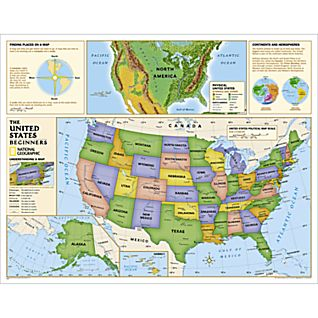 Beginners U.S. Education Map (Grades K-3)