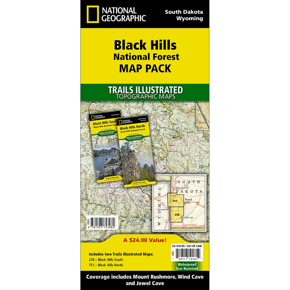 photo: National Geographic Black Hills National Forest Map Pack us midwest paper map