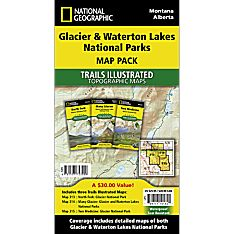 Glacier Waterton Park Map
