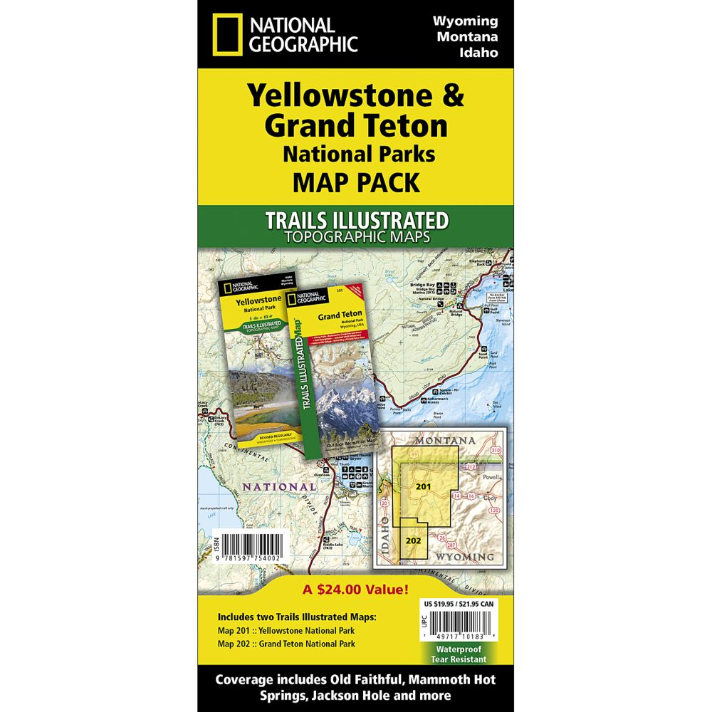 photo: National Geographic Yellowstone/Grand Teton National Park Map Pack