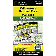 Trail Map of Yellowstone National Park