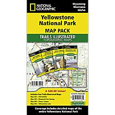 Hiking Trail Map of Yellowstone National Park