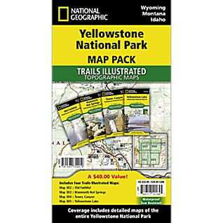 Yellowstone National Park Trail Maps (Map Pack Bundle)