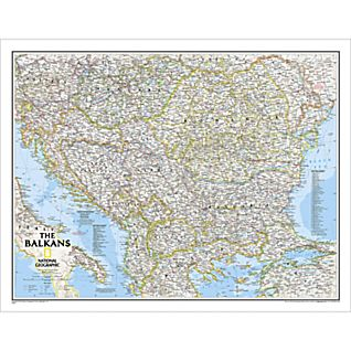 View Balkans Political Map, Laminated image