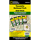 Yosemite National Park Trail Maps (Map Pack Bundle)