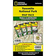 Yosemite National Park Hiking Trail Map