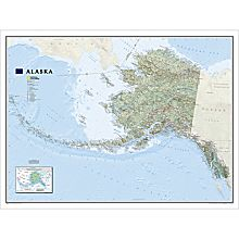 Alaska Wall Map, Laminated
