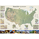United States National Parks Map, Laminated