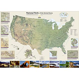 View United States National Parks Map, Laminated image