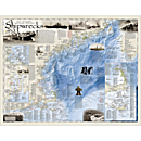 Shipwrecks of the Northeast Wall Map, Laminated