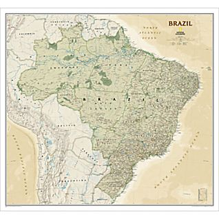 View Brazil Political Map (Earth-toned) image