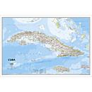 Cuba Classic Map, Laminated