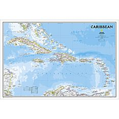 Caribbean Political Map (Classic), Laminated