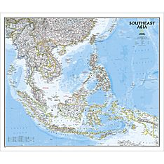 Southeast Asia Classic Wall Map