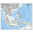 Southeast Asia Political Map, Laminated