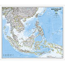 Southeast Asia Political Map, Laminated, 2012