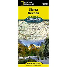 Sierra Nevada Destination Map, 2012