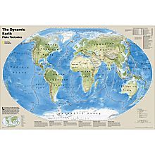 The Dynamic Earth, Plate Tectonics Map, Laminated
