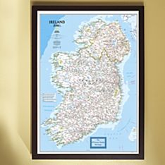 Framed Personalized us Travel Map