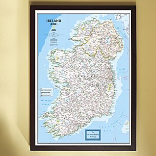 National Geographic ''My Ireland'' Personalized Map (Classic)