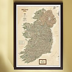 National Geographic ''My Ireland'' Personalized Map (Earth-toned)