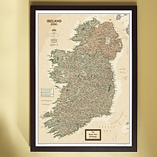 View National Geographic ''My Ireland'' Personalized Map (Earth-toned) image