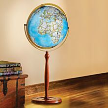 Chamberlin Illuminated Floor Globe, Made in the USA