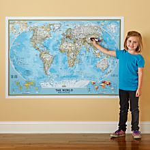 World Maps on Wall
