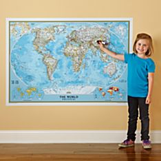 Repositionable World Map, Blue Ocean, 2011