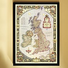 1949 British Isles Map, Framed, 2011