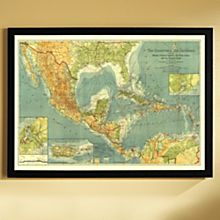 1922 Countries of the Caribbean Map, Framed, 2011