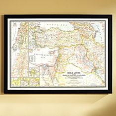 1946 Bible Lands, and the Cradle of Western Civilization Map, Framed, 2011