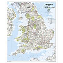 Geographic Map of England Cities