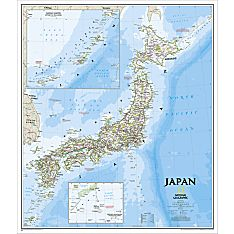 Japan Map (Classic), Laminated