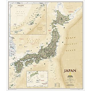 View Japan Map (Earth-toned), Laminated image