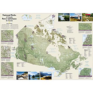 Canada National Parks Map, Laminated